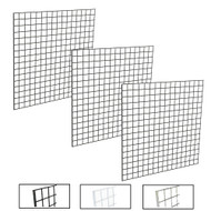 4' X 4' Gridwall Panels | Black, White or Chrome | Case of 3