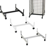 Gridwall Gondola Base w/Casters 24 x 24 | Black, White or Chrome