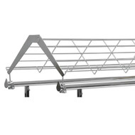 Shoe Display Shelf Topper for Double Rail Racks