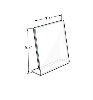 "5.5""H x 3.5""W Acrylic Tabletop Sign Holder 