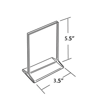"""5.5""""H X 3.5""""W Double Sided Acrylic Countertop Sign Holder 