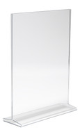 """11""""H X 8.5""""W Double Sided Acrylic Countertop Sign Holder 