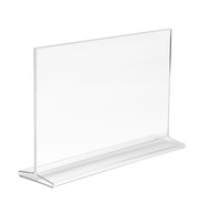 """7""""H x 11""""W Double Sided Acrylic Countertop Sign Holder 