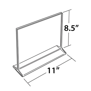 """8.5""""H x 11""""W Double Sided Acrylic Countertop Sign Holder   Top Loading"""