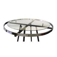 "30"" Glass Topper for 36"" Round Clothing Rack 