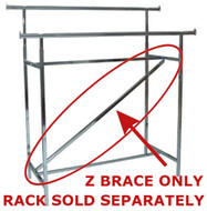 Z Brace for Double Rail Rack  Adds Additional Support | Case of 10