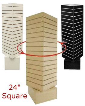 "4 Sided Revolving Slatwall Display | 24""W x 60""H 
