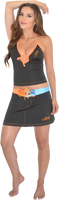 Mission Bay Swim Skirt - Blue/ Orange PWC Jetski Swimwear
