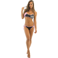 Sporty Spice Bikini Top -Pink PWC Jetski Ride & Race Swimwear