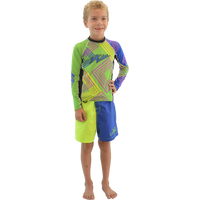 Kids (Big Kids) Rashguard Young Heart - Green PWC Jetski Ride & Race