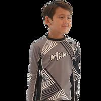 Kids (Big Kids) Rashguard Young Heart  - Grey PWC Jetski Ride & Race