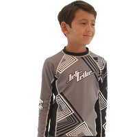 Kids (Big Kids) Rashguard Young Heart  - Grey PWC Jetski Ride & Race