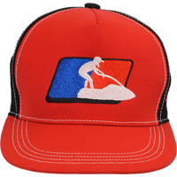 Stand-Up League Hat - Red PWC Jetski Ride & Race Accessories