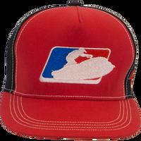 Sit Down League Hat - Red PWC Jetski Ride & Race Accessories