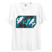 Linear T-Shirt - White PWC Jetski Ride & Race Apparel