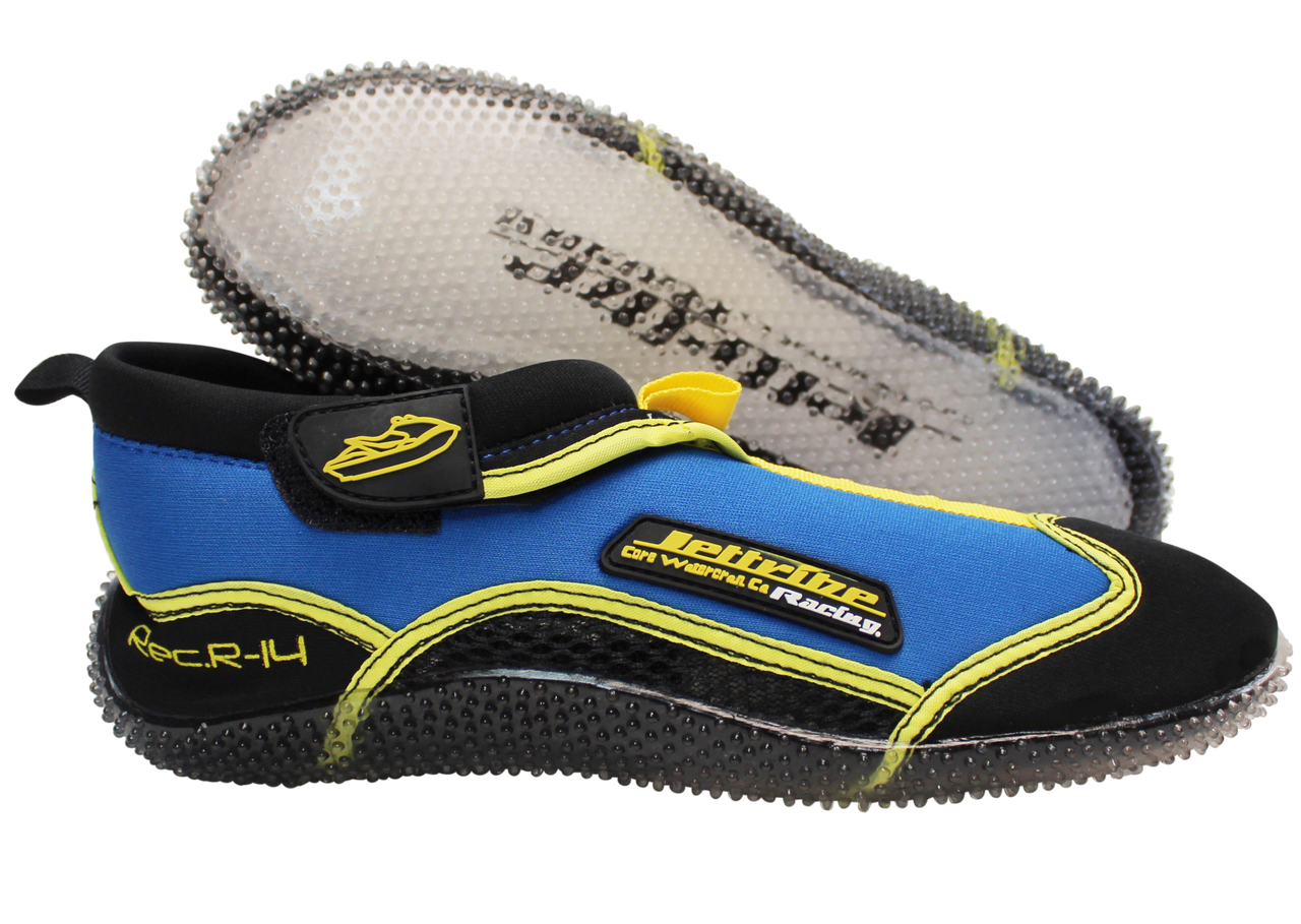 d879f2092 ... Rec R-14 Ride Shoes Blue   Yellow PWC Jetski Ride   Race Gear. Image 1