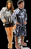 Longsleeve Rashguard Shockwave Black / White PWC Jetski Ride & Race