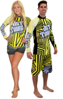 Longsleeve Rashguard Shockwave Yellow PWC Jetski Ride & Race