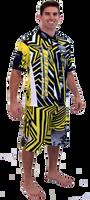 Men's Pit Shirt Shockwave - Yellow PWC Jetski Ride & Race Jet Ski Apparel