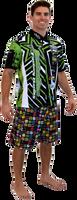 Men's Pit Shirt Shockwave - Green PWC Jetski Ride & Race Jet Ski Apparel