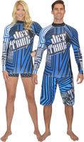 Longsleeve Rashguard Shockwave Blue PWC Jetski Ride & Race Apparel