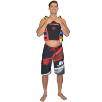 Ripped Men's Board Shorts Red PWC Jetski Ride & Race Apparel