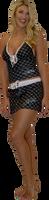 Hash Swim Skirt - Black PWC Jetski Swimwear