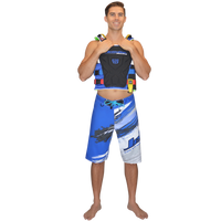 Ripped Men's Board Shorts - Blue PWC Jetski Ride & Race Apparel