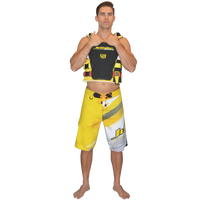 Ripped Men's Board Shorts - Yellow PWC Jetski Ride & Race Apparel
