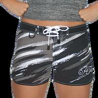 Scratch Ladies Board Shorts Black / Grey PWC Jetski (Clearance)