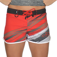 Ripped Ladies Board Shorts Red PWC Jetski Ride & Race Apparel
