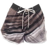 Ripped Ladies Board Shorts Grey PWC Jetski Ride & Race Apparel