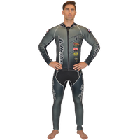 Classic Grey Wetsuit PWC Jet Ski Ride & Race Jetski Freestyle (Small Only)