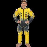 Classic Yellow Wetsuit PWC Jet Ski Ride & Race Jetski Freerider