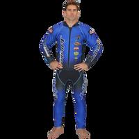 Classic Blue Wetsuit PWC Jet Ski Ride & Race Jetski Freerider