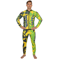 Shattered Yellow/Green Wetsuit PWC Jet Ski Ride & Race Freerider