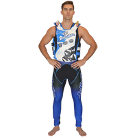 U.S.C.G. Shattered Side-Entry Vest Blue PWC Jetski Ride & Race