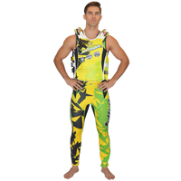U.S.C.G. Shattered Side-Entry Vest Yellow/Green PWC Jetski Race