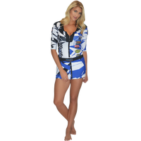 Trophy Girl Dress Shattered Blue PWC Jetski Ride & Race Apparel
