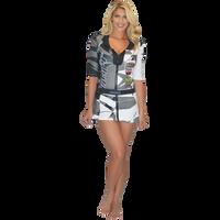 Trophy Girl Dress Shattered Grey PWC Jetski Ride & Race Apparel