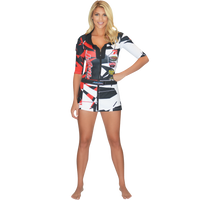 Trophy Girl Dress Shattered Red PWC Jetski Ride & Race Apparel