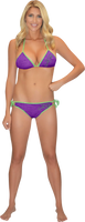 Bikini Top Purple PWC Jetski Ride & Race Jet Ski Apparel