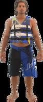 U.S.C.G  Civilian Vest Nylon - Blue PWC Jetski Ride & Race Gear
