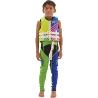 Child U.S.C.G. Young Heart Neoprene Vest - Green Jetski Ride & Race