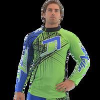 Rashguard Spike - Blue/Green PWC Jetski Ride & Race Apparel