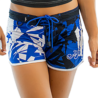 Ladies Shattered Shorts - Blue PWC Jetski Ride & Race Apparel