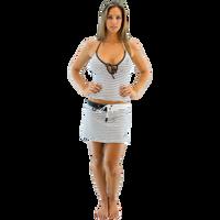 Morocco Swim Skirt - Black/White PWC Jetski Ride & Race Swimwear