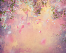 beautiful falling pink leaves photographers backdrop