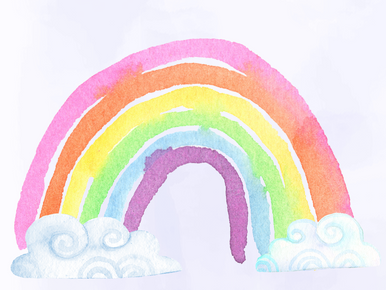 A fun rainbow hand painted  05 photographers backdrop