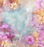 pink flowers textured hand painted colour wash backdrop 04